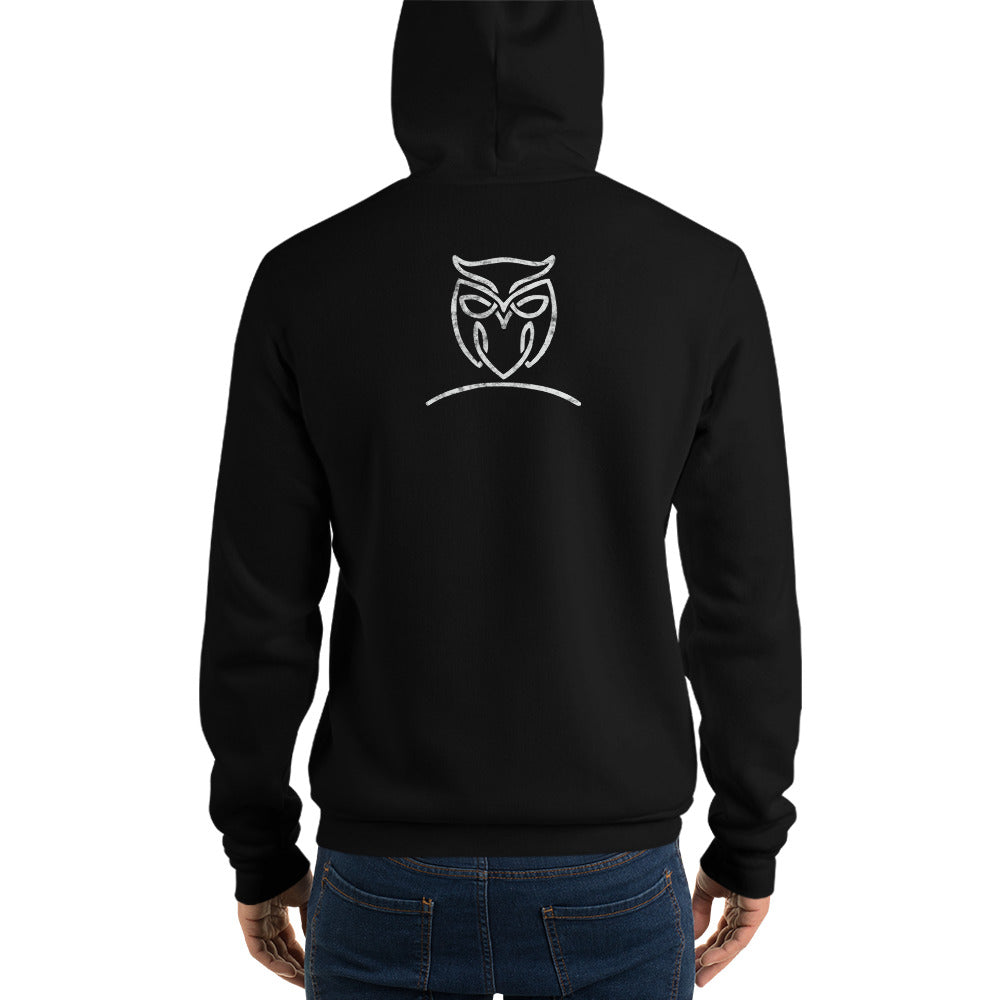 "Unisex Black ""Nymphya"" Owl Hoodie - The Nymphya Shop"