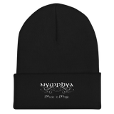 "Nymphya ""Music is Magic"" Cuffed, Embroidered Beanie - The Nymphya Shop"
