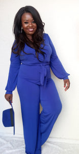 """Flare"" Jumpsuit in Royal"