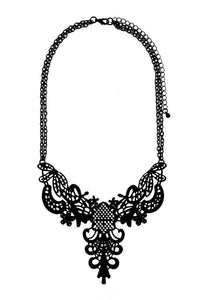Cut-Out Metalwork Necklace