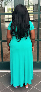 """Honey"" Dress in Teal"