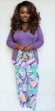 "Load image into Gallery viewer, ""Swept Off"" Purple Palazzo Pants"