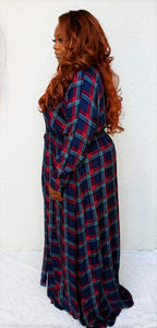 """*Upstage"" Plaid Dress"