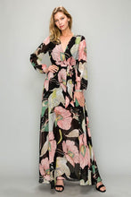 Load image into Gallery viewer, Lily Pad-Floral Maxi Dress
