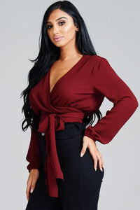 Wrapped Up Burg-Wrap Top