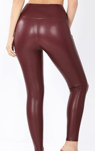 """Tough Days"" Leather Leggings Set"