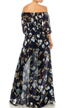 Load image into Gallery viewer, Navy Gardens-Floral Maxi Dress