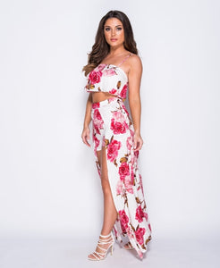 Planted in Pink-2pc Set Maxi Dress