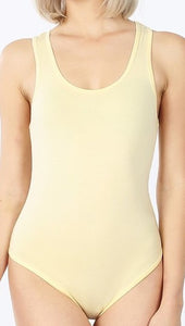 """Basie"" Basic Tank Bodysuit Multiple Colors"