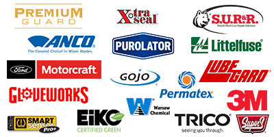 Brands you can trust. Motorcraft, Premium Guard, SUR&R, Trico, Super S, Warsaw Chemical