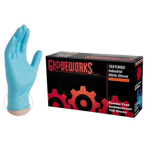 Gloveworks® Blue Nitrile Disposable Gloves - Pk. 100
