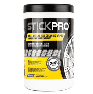 STICKPRO™ Wheel Weight Pre-Cleaning Wipes