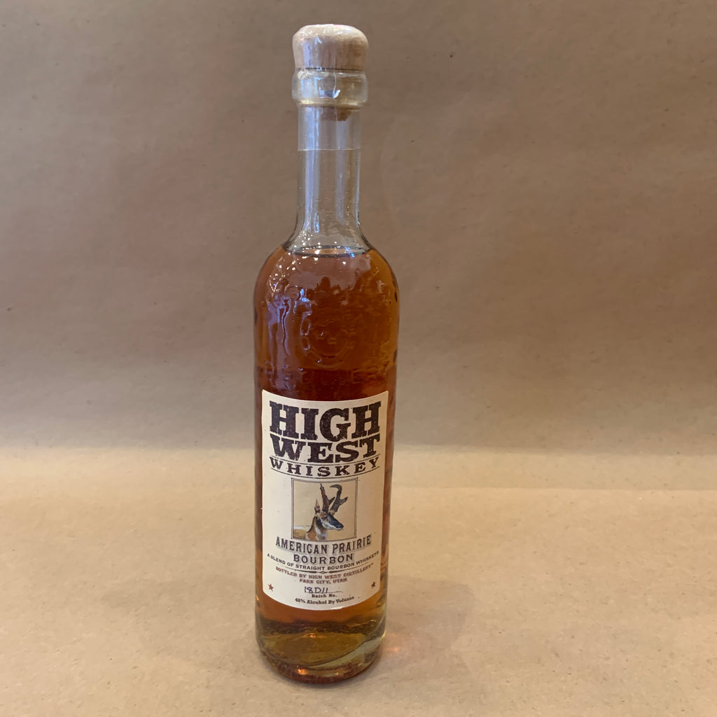 High West American Prairie Bourbon Whiskey 92° Utah 750ml