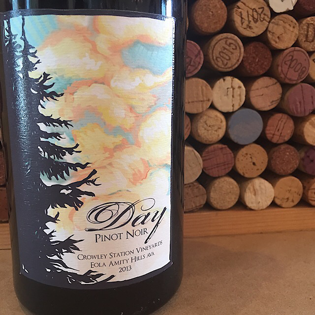 Day Wines Crowley Station Vineyards Pinot Noir Eola Amity Hills 2013