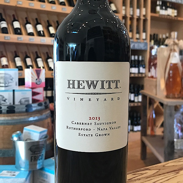 Hewitt Vineyard Rutherford Napa Valley Cabernet Sauvignon 2013