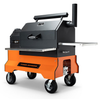 Yoder YS-640 Pellet Smoker with Comp Cart (Orange)