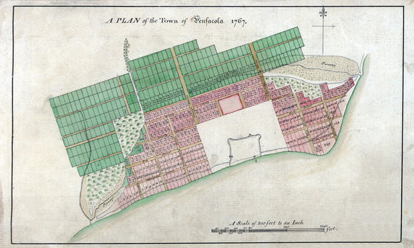 1767 Map of Pensacola Escambia County Florida