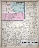 1877 Map of Washington Township Clarion County Pennsylvania Oil Wells