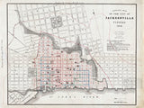 1878 Map of The City Of Jacksonville Florida