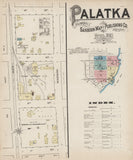 1885 Town Map of Palatka Putnam County Florida