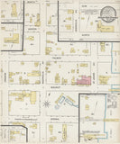 1887 Town Map of Green Cove Springs Clay County Florida