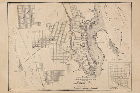 1888 Map of Saint Augustine Florida