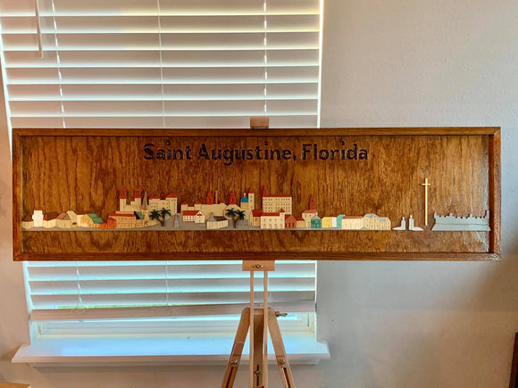 Saint Augustine Florida Panorama Wood Art