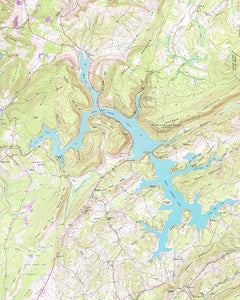 Deep Creek Lake Maryland Topographic Map