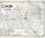 1885 Map of Duval County Florida Jacksonville