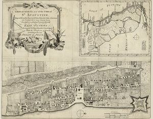 1764 Map of Saint Augustine Florida