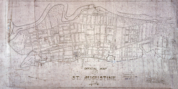 1923 Map of Saint Augustine Saint Johns County Florida