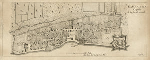 1778 Map of Saint Augustine Florida