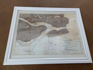 1779 Map of Saint Augustine Florida Framed