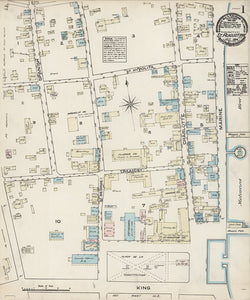 1884 Town Map of Saint Augustine Saint Johns County Florida