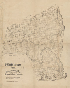 1883 Map of Putnam County Florida