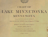 Chart of Lake Minnetonka