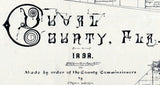1898 Map of Duval County Florida