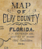 1885 Map of Clay County Florida
