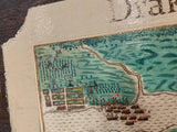 1586 Map of Drakes Raid Of Saint Augustine Custom Framed