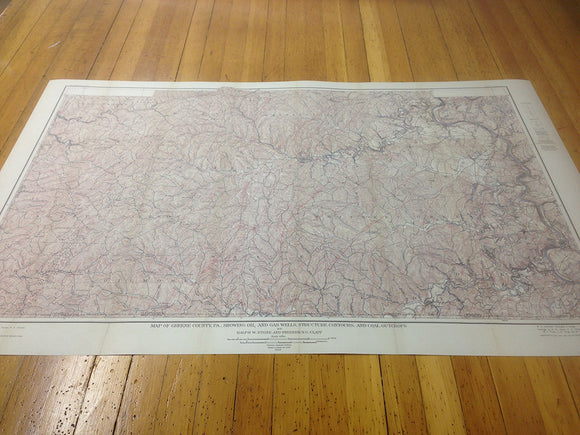 1906 Oil & Gas Well Map of Greene County Pa