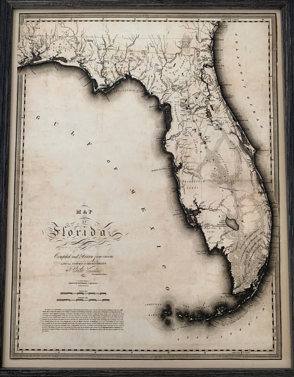 1823 Map of Florida