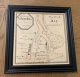 1805 Map of Saint Augustine Florida Framed