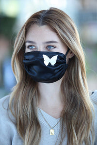Butterfly Women's Satin Face Mask