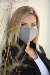 Heather Grey Women's Face Mask