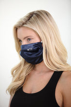 Load image into Gallery viewer, WTF Satin Face Mask<br><strong>(multiple colors)</strong>