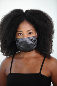 She Needed A Hero, So That Is What She Became Satin Face Mask<br><strong>(multiple colors)</strong>
