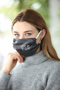 USA All the Way Women's Satin Face Mask