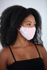 Brave Beauty White Butterfly Women's Face Mask<br><strong>2 Colors</strong>