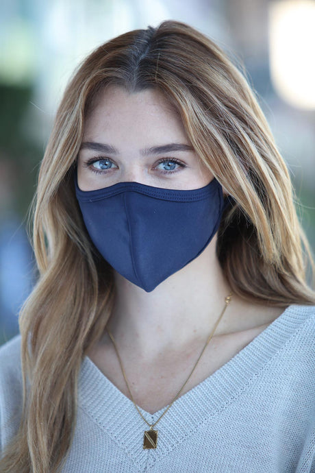 Navy Unisex with Binding Face Mask
