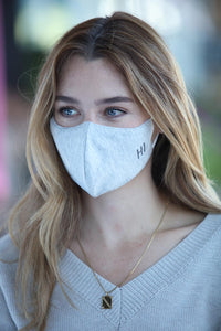 "Heather Grey ""Hi"" Women's Face Mask"